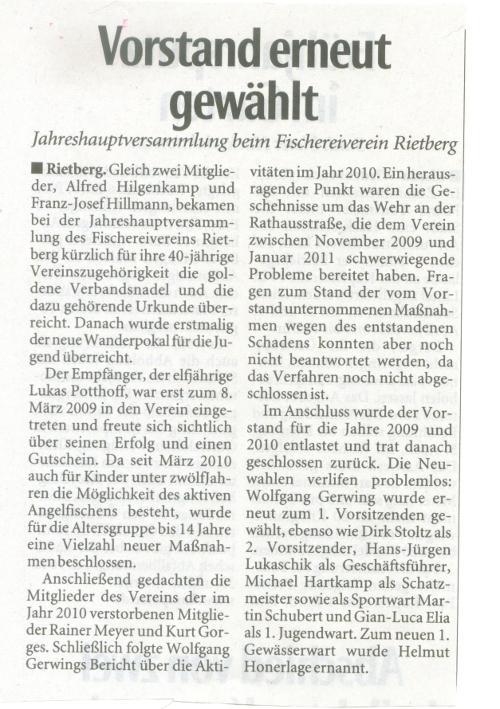 Neue Westfälische 02.04.2011